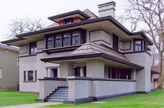 313 Forest Avenue  Hills-DeCaro House  Architect: Frank Lloyd Wright  1906 / 1976-1977, Prairie  Exterior Designated January 7, 2002