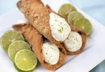 Key Lime Cannoli with Oven Baked Cannoli Shells | Imperial Sugar® Recipe