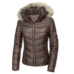 01cd759848e Pikeur Bellice Quilted Ladies Jacket - Dark Taupe at Redpost Equestrian
