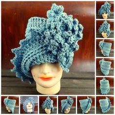 Crochet Pattern Hat Womens Crochet Hat Pattern Womens Hat Crochet Flower Pattern Crochet  LAUREN Cloche Hat Pattern with Flower by strawberrycouture by #strawberrycouture on #Etsy