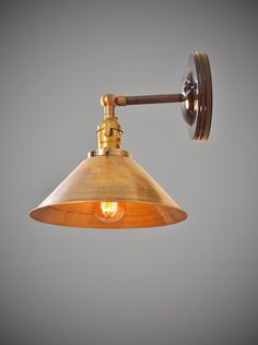 Vintage Industrial Style Wall Sconce w/ White Shade by DWVintage