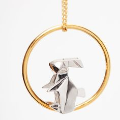 origami jewellery   Les cercles Argent