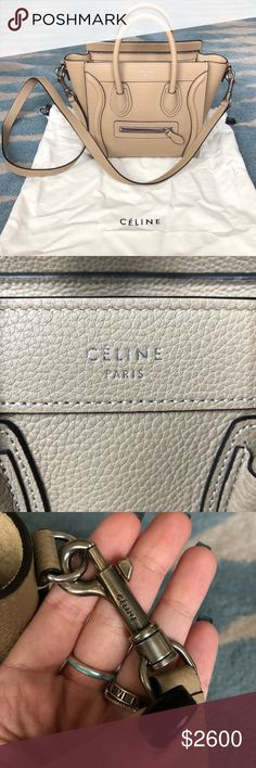 16faa77f4c92 Céline nano luggage bag in drummed calfskin BRAND NEW celine nano luggage  bag! purchased from