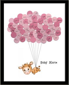 Giraffe Theme Baby Shower Guest Book Print by SayAnythingDesign, $39.75