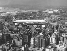An aerial image from the book of Johannesburg's high-rise buildings. (MuseuMAfricA, Johannesburg) The tales behind Johannesburg's skyscrapers Johannesburg City, Aerial Images, High Rise Building, South Africa, Passenger Aircraft, Skyscrapers, Cityscapes, Landscape, History