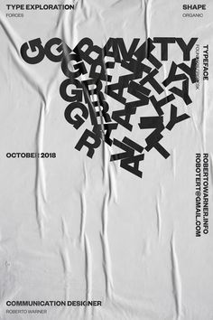 Kinetic Type Exploration on Behance Vintage Typography, Typography Letters, Typography Logo, Hand Lettering, Vintage Logos, Retro Logos, Type Posters, Graphic Design Posters, Graphic Design Typography