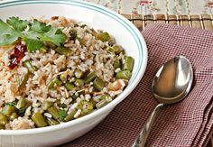 Versatile Vegetarian Kitchen: Green Beans Rice