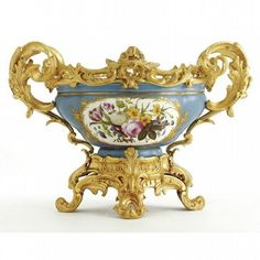 A GILT-BRONZE MOUNTED SEVRES STYLE PORCELAIN CENTERPIECE FRENCH, CIRCA 1890