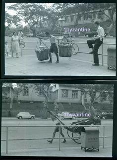 Hong Kong Sai Wan X2 Negatives China English Cars st scene Photograph image 1959
