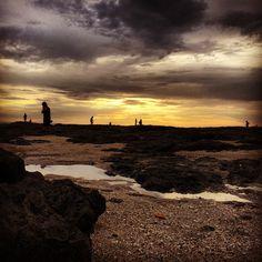 Atardecer en playa Langosta, Guanacaste.