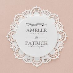 Lasercut Lace I - Circular Trifold by B Wedding Invitations