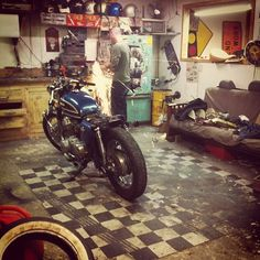 heaven #garage #foto #moto    I couldn't agree more!
