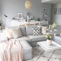 57 inspiring apartment living room decorating ideas 49 ⋆ All About Home Decor Living Room Grey, Interior Design Living Room, Living Room Designs, Living Room Decor Ideas Grey, Living Rooms, Scandi Living Room, Tv Rooms, Cozy Living, House Rooms