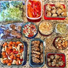 Hi friends- Here's what I prepped last week during my food prep session: I made: Instant Pot Asian Chicken Coconut Oil Banana Muffins Lettuce, Peppers, Carrots & Hummus Topping Sweet Potato Protein Cookies Lemon Energy Balls No Bake Protein Bars PB Apple Cinnamon Oatmeal Thai Chicken Meatballs Guacamole Roasted sweet potatoes and regular potatoes That's...Read More »