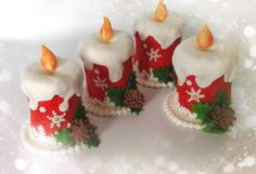 Christmas mini  cakes  - Cake by Daria