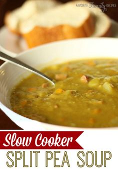 I love all the different veggies in this split pea soup. It is very healthy and full of flavor! #splitpeasoup #crockpotsoup