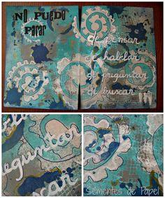 Sementes de papel: No puedo parar... art journaling