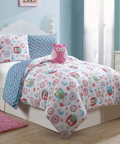 Another great find on #zulily! Emily Owl Reversible Comforter Set #zulilyfinds