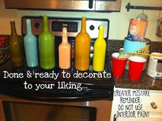 avery&anderson: Fall Decor' Part 4: THANKS be to upcycling wine bottles!