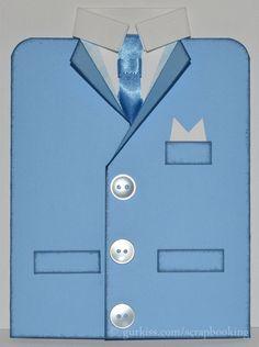 manligt kort - Jacket card