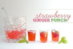 Strawberry Ginger Punch @FoodBlogs