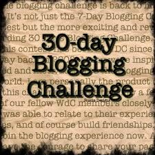 For all the bloggers!  30 Days of Blogging.