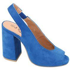 Ladies Open Toe Heel Cobault Blue   Buy Online in South Africa   takealot.com South Africa, Open Toe, Lady, Heels, Blue, Stuff To Buy, Fashion, Heel, Moda