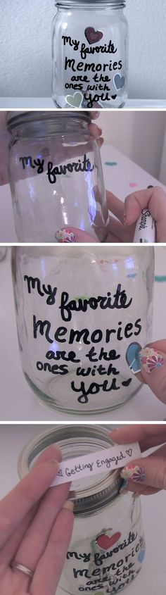 Gifts For Friends Diy Mason Jar Ideas Diy Crafts For Boyfriend, Diy Gifts For Girlfriend, Birthday Gifts For Husband, Diy Gifts For Him, Diy Gifts For Friends, Presents For Boyfriend, Best Friend Gifts, Birthday Presents, Boyfriend Ideas