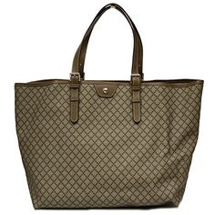 Gucci Diamante Supreme Canvas and Brown Leather Large Unisex Tote Bag 295250 - http://bags.bloggor.org/gucci-diamante-supreme-canvas-and-brown-leather-large-unisex-tote-bag-295250/