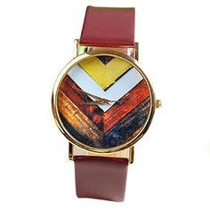 Suppion Popular Fashion Woman Man Geneva Stripes Watch Pu Leather Quartz Watch Wrist Watches Brown
