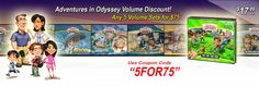 Adventures in Odyssey Volume Discount Any 5 Volumes Sets for $75 gsbooks.us/c/187_4_50
