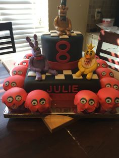 Five nights at Freddy's themed cake