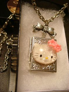 Hello Kitty Locket Necklace Victorian Style Book by ClockworkAlley, $23.00