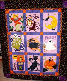 Halloween Quilt.  I like the blocks but not the border.