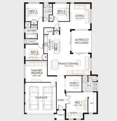 10 One-Story House Designs - Modern Facade Models and Plans Ideas - 1 Story House, One Story Homes, Modern Residential Architecture, Architecture Plan, Apartment Floor Plans, House Floor Plans, Rawson Homes, Modern House Facades, Facade House