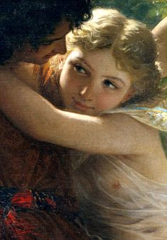 Le Printemps (Spring) By Pierre Auguste Cot (1873) detail.