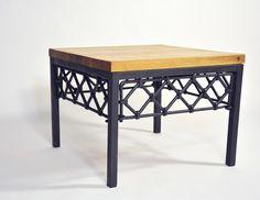 Diseño de mobiliario que integra madera y acero