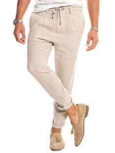 Men's Linen Pants Phantom Style Nohow Nohow Style is part of Linen pants outfit - Summer Pants Outfits, Polo Shirt Outfits, Outfit Summer, Outfit Winter, Summer Wear, Work Outfits, Linen Pants Outfit, Lace Pants, Free T Shirt Design