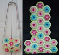 Free Crochet Bag Patterns Part 14 - Beautiful Crochet Patterns and Knitting Patterns Free Crochet Bag, Crochet Purse Patterns, Crochet Motif, Bag Patterns, Crochet Handbags, Crochet Purses, Handmade Handbags, Handmade Bags, Motif Hexagonal