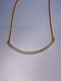 Large Crystal Bar Necklace by FrantasticSparkle on Etsy