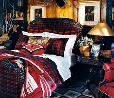 ralph-lauren-indian-cove-lodge-bed-room-decor - Great Home Decorations Lodge Look, Lodge Style, Living Colors, Boho Home, Cozy Cabin, Beautiful Bedrooms, Home Collections, Bedroom Decor, Lodge Bedroom