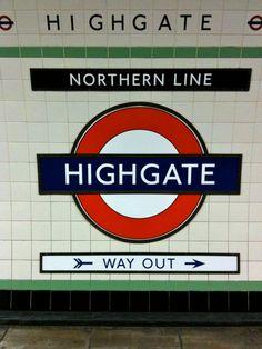 HIGHGATE TUBE STATION | HIGHGATE | HARINGEY | LONDON | ENGLAND: *London Underground: Northern Line*