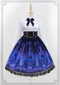 Moonlight Forest -Griffin's Whisper- Lolita High Waist Skirt