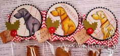 Treat toppers for Dogs! :)  http://sweetmissdaisy.typepad.com/sassy_sweet_notes/2011/12/holiday-treats-for-our-furry-friends-part-2.html