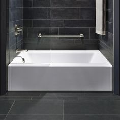 """THIS COULD BE THE ONE??$900 free shipping by Jan. 7th - 15"""" stopover. Kohler Cast Iron Enameled - Bellwether Alcove 60"""" x 32"""" Soaking Bathtub & Reviews   Wayfair Supply"""