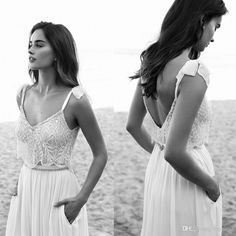 2016-two-pieces-lace-boho-wedding-dresses