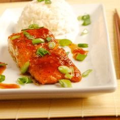 Try this easy, healthy and delicious Salmon Teriyaki recipe with grated ginger and fresh orange zest.