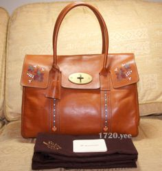 Mulberry Bayswater Tan Kew Leather Hand Painted Large Tote Handbag  26b2d9ae8e29b