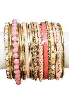 Soda Shop Bangle Set by Top It Off: Vibrant Jewelry Shop on @HauteLook