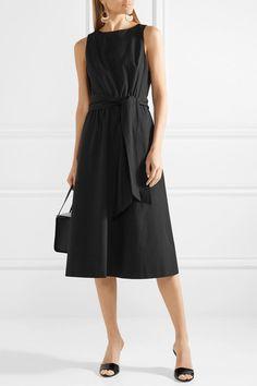 Alice + Olivia | Brynlee belted cotton-poplin midi dress | NET-A-PORTER.COM